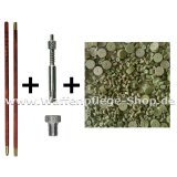 Putzstock Putzzeugset Adapter und Ballistol Öl Kal VFG Reiniger inkl 7 mm